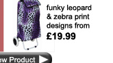 zebra and leopard print shopping trolleysd