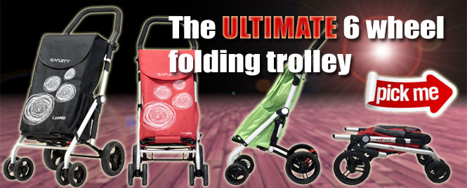Ultimate 6 wheel shopping trolley