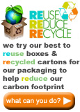 We try to reduce our carbon footprint