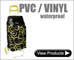 Waterproof PVC / Vinyl Shopping Trolleys