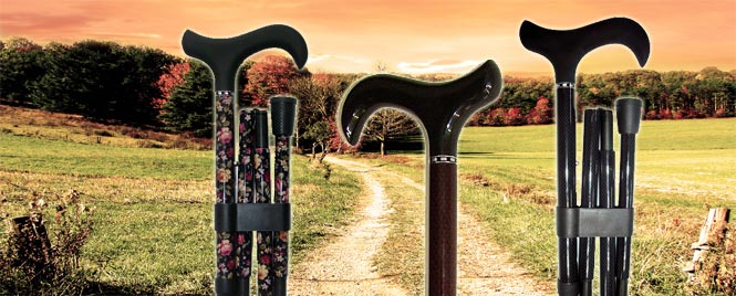 Carbon fibre walking sticks