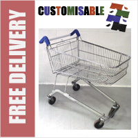 100 Litre Shallow Wire/Metal Supermarket Shopping Trolley