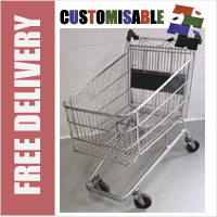 190 Litre Large Wire/Metal Supermarket Shopping Trolley