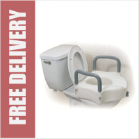 2 In 1 Elevated Toilet Seat With Removable Arm's