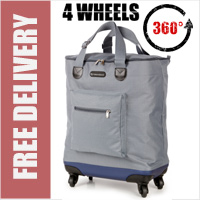 Venice 360 Degree Super Lightweight Folding Shopping Bag on 4 Wheels Grey