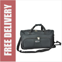 5 Cities Cabin Travel Trolley Bag 55cm - Black
