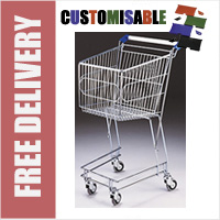 50 Litre Mini Wire/Metal Supermarket Shopping Trolley