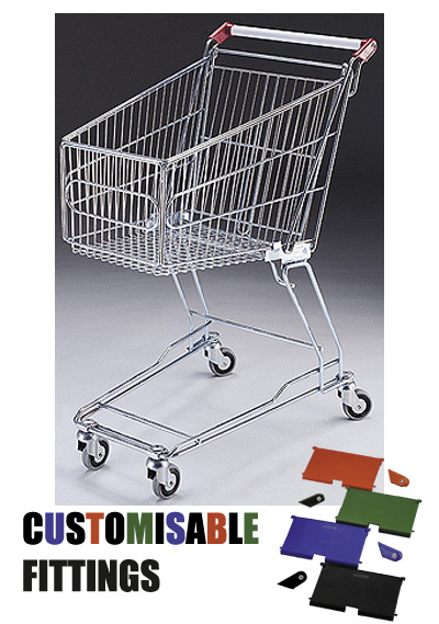 60 Litre Small Wire/Metal Supermarket Shopping Trolley