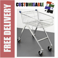 70 Litre Shallow Wire/Metal Supermarket Shopping Trolley