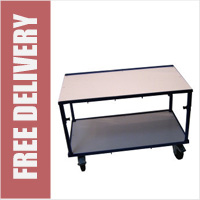 Adjustable Height Table Trolley