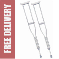 Youth Aluminium Underarm Crutches (Sold as pair)