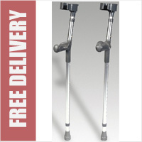 Anatomic Aluminium Forearm Crutches (Sold as pair)