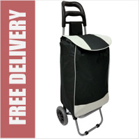 Black 2 Wheel Shopping Trolley with Large Capacity