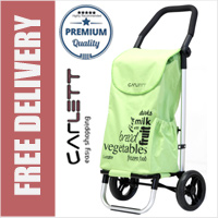 Carlett Lett201 Designer Look Folding 2 Wheel Shopping Trolley with Adjustable Handle Star Fruit Yellow