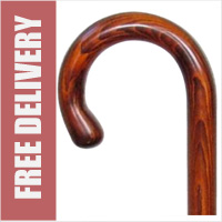 Cherry Crook Handle Walking Stick