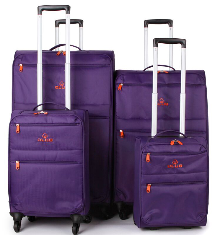 Super Lightweight 4 Piece Luggage Set (4 Wheel Spinners   2 Wheel ...