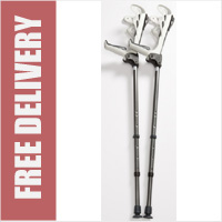 ErgoDynamic Elbow Crutches Black/White (Sold as pair)