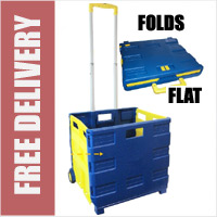 Extra Large Folding Boot Shopping Cart Trolley Crate (HEAVY DUTY 35KG CAPACITY)