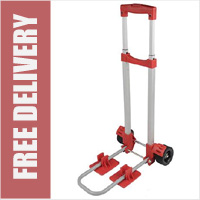 30kg Lightweight Folding Sack Truck with Wide Wheels and Axle for Stability