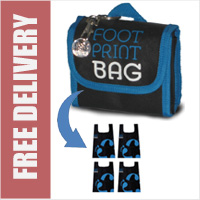 Footprint Bag Reusable Shopping Bag 4 Pack Blue Original