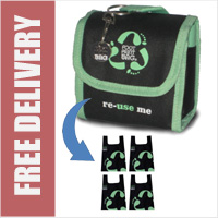 Footprint Bag Reusable Shopping Bag 4 Pack Green Original