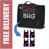 Footprint Bag Reusable Shopping Bag 4 Pack Pink Original