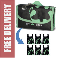 Footprint Bag Reusable Shopping Bag 6 Pack Green Original