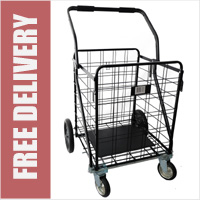 The Beast GNAUSA 4 Wheel Extra Large 158 Litre Capacity Heavy Duty 100kg Shopping Trolley Steel Wire Cart