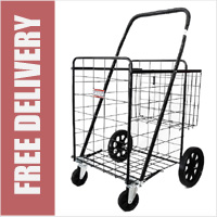 The Mule GNAUSA 4 Wheel Extra Large 130 Litre Capacity Heavy Duty 40kg Shopping Trolley Steel Wire Cart