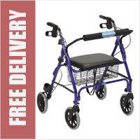 Heavy Duty Rollator with Seat