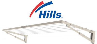 Hills Supa Fold Compact Wall Mounted Washing Line