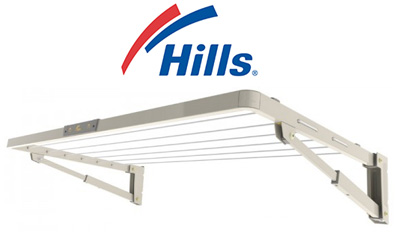 Hills Supa Fold Mini Wall Mounted Washing Line
