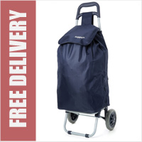 Hoppa Large 47 Litre Capacity Lightweight 2 Wheel Shopping Trolley Navy