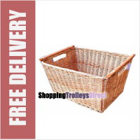 Wicker Large Square Storage Basket with Handles