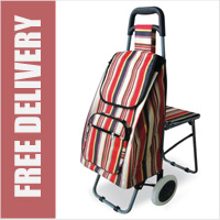 Lifemax Leisure Shopping Trolley with Seat