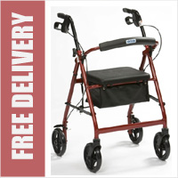 Lightweight Aluminium R6 Rollator with Seat