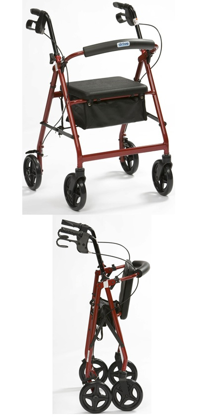 Lightweight Aluminium R8 Rollator with Seat