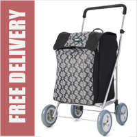 Marketeer Chelsea 4 Wheel Shopping Trolley Black Grey