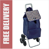 Marketeer Stair Climber 6 Wheel Shopping Trolley Navy