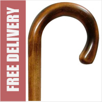 Maple Crook Handle Walking Stick