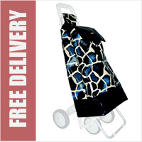 Blue Giraffe Colour Replacement Spare Bag for Marketeer 2 x 4 Fashion Shopping Trolley Frame (BAG ONLY)