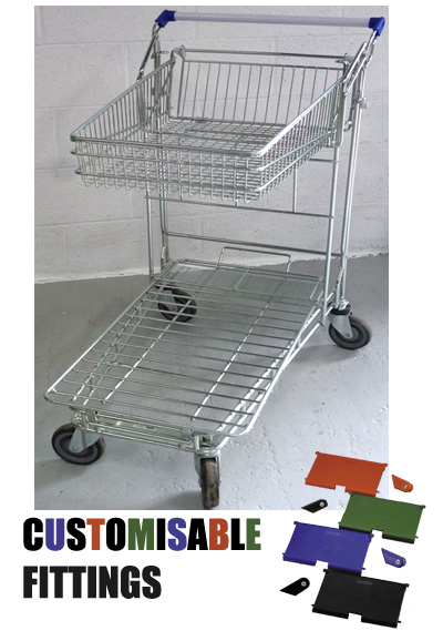 42 Litre DIY/Garden Centre Wire/Metal Trolley