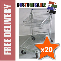 20 x 42 Litre DIY/Garden Centre Wire/Metal Trolley