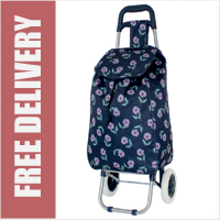 Limited Edition 2 Wheel Shopping Trolley Navy Floral