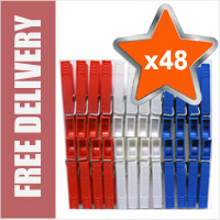 48 x High Quality Plastic Clothes Line Pegs