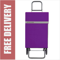 Rolser Jean 2 Wheel Shopping Trolley Purple