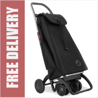 Rolser Pack Tour Original Black Swivelling Front Wheels Shopping Trolley