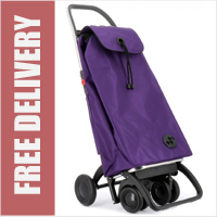 Rolser Pack Tour Original Purple Swivelling Front Wheels Shopping Trolley