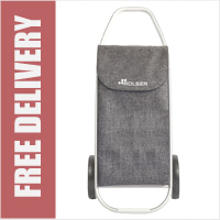 Rolser Com 8 TWEED Heavy Duty Folding 2 Wheel Shopping Trolley Gris