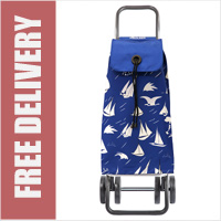 Rolser Pack Brisa 4 Wheel Shopping Trolley Blue/White